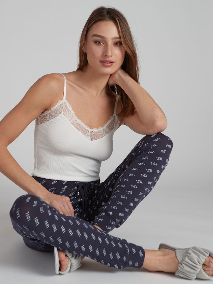 מכנסיים ארוכים DARLING בצבע נייבי