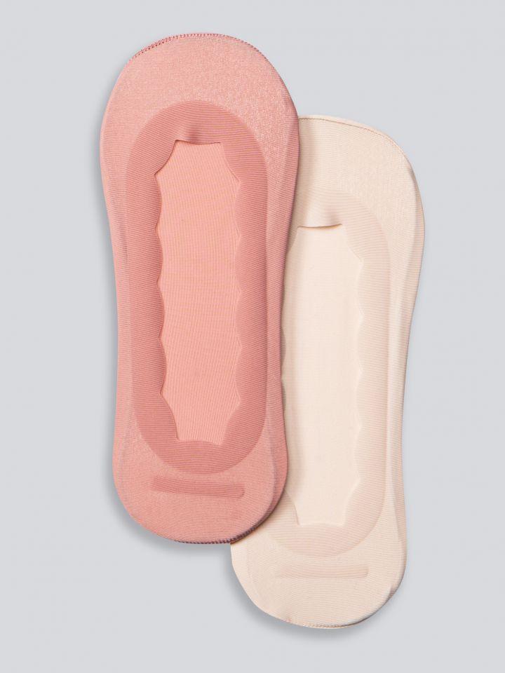 מארז גרבי עקביות מיקרופייבר בסיומת גלית בצבע פודרה