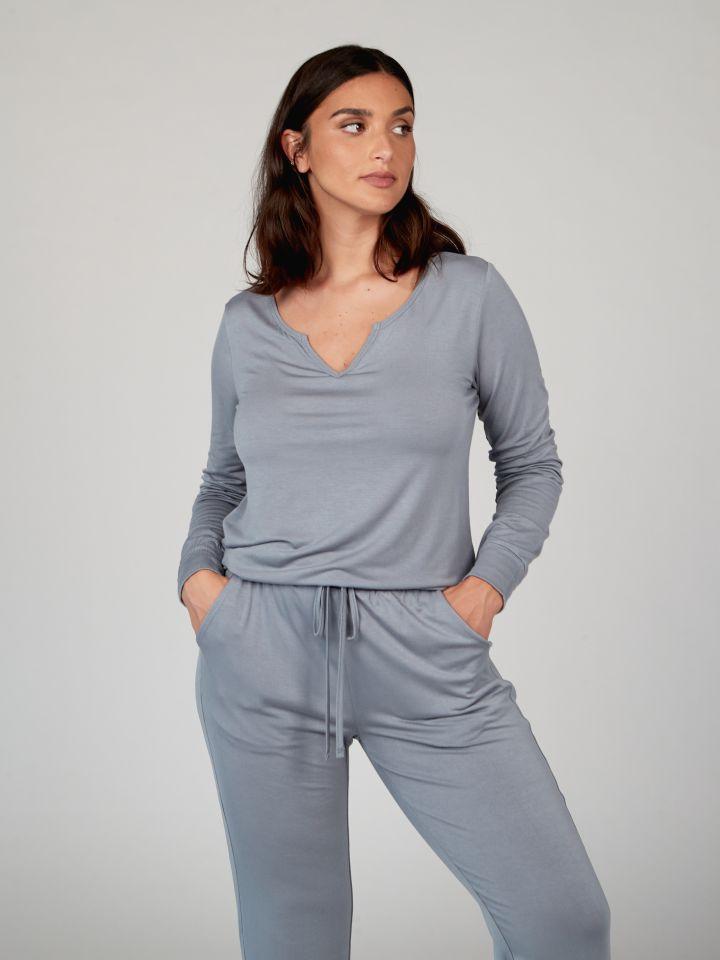 חולצת טי מודל COMFY בצבע כחול אקווה