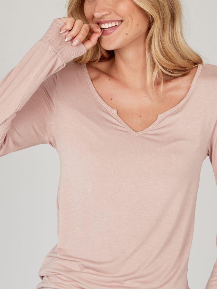 חולצת טי מודל COMFY בצבע פודרה