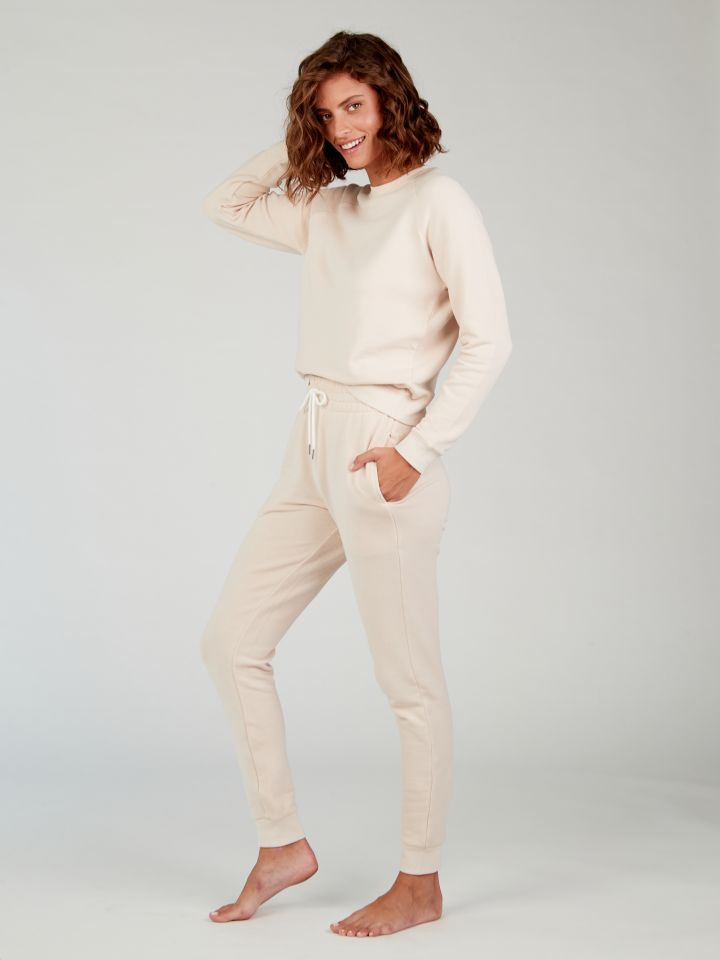 מכנסי פרנץ' טרי POLLY בצבע אבן
