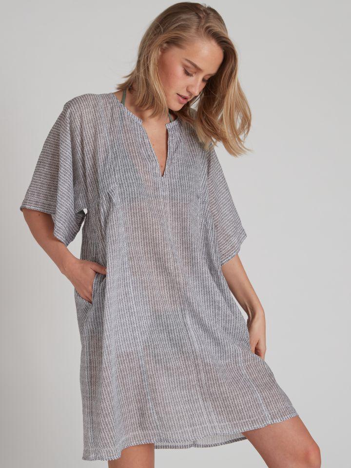 שמלת חוף SUNNY בצבע כחול