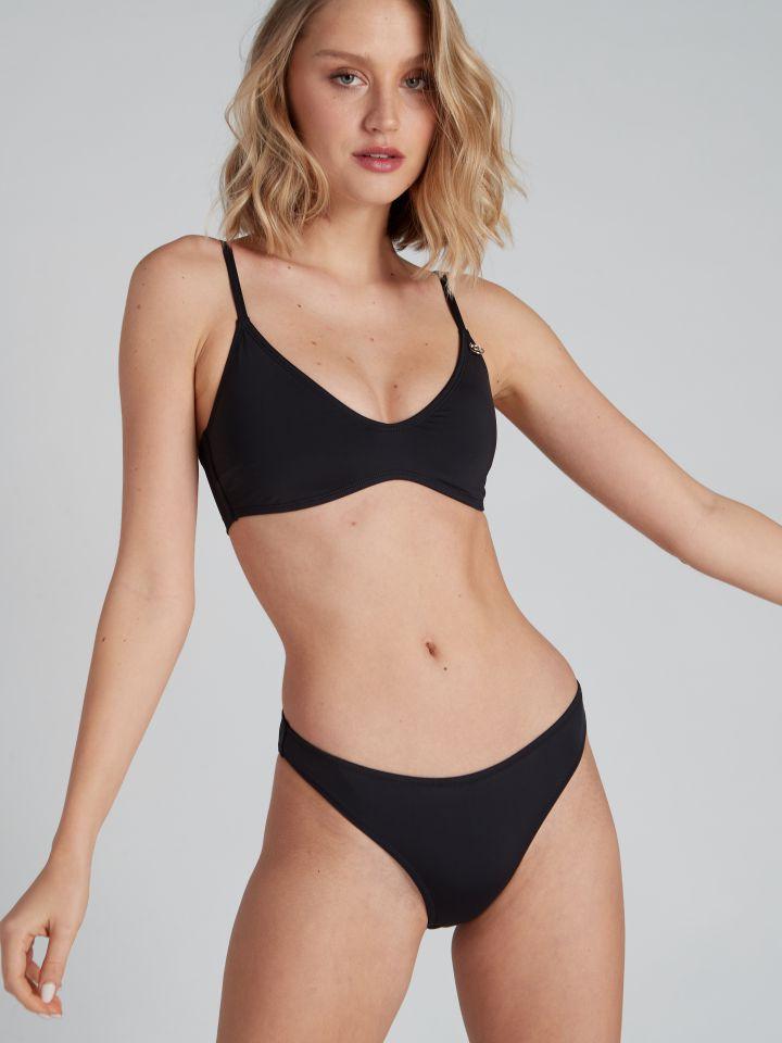 תחתוני בגד ים מיני BASIC בצבע שחור