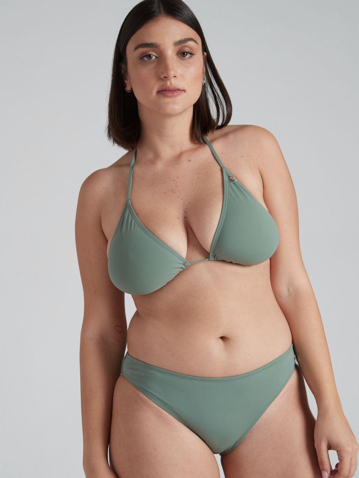 תחתוני בגד ים מיני BASIC בצבע ירוק זית