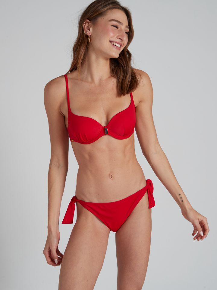 חזיית בגד ים מרופדת PALOMA בצבע אדום