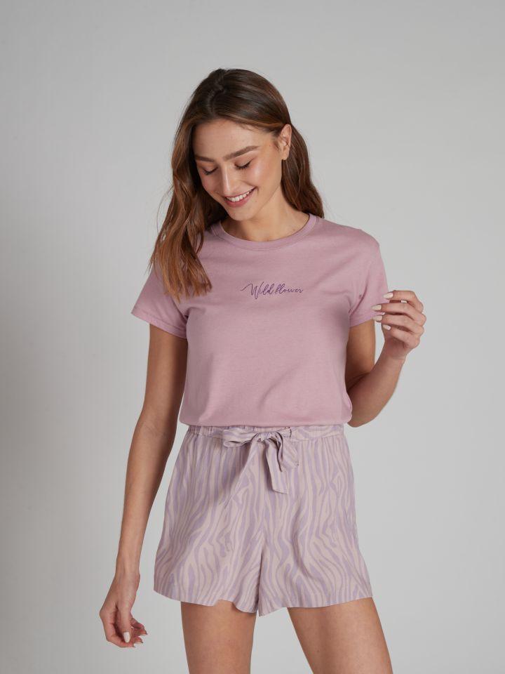 מכנסיים קצרים SOPHIA בצבע סגול