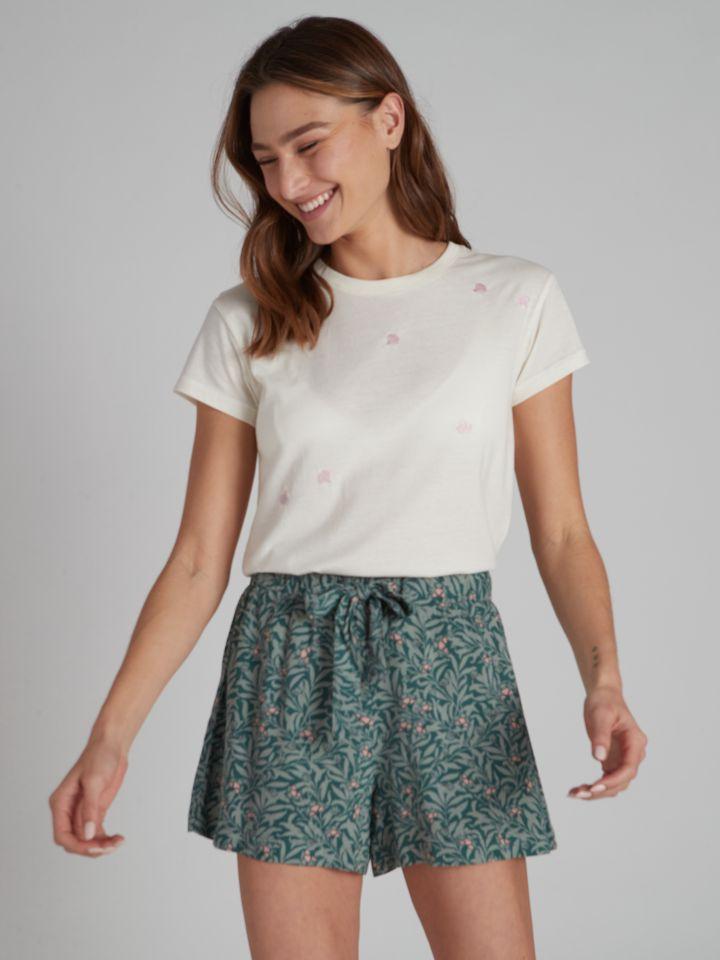 מכנסיים קצרים SOPHIA בצבע ירוק מרווה