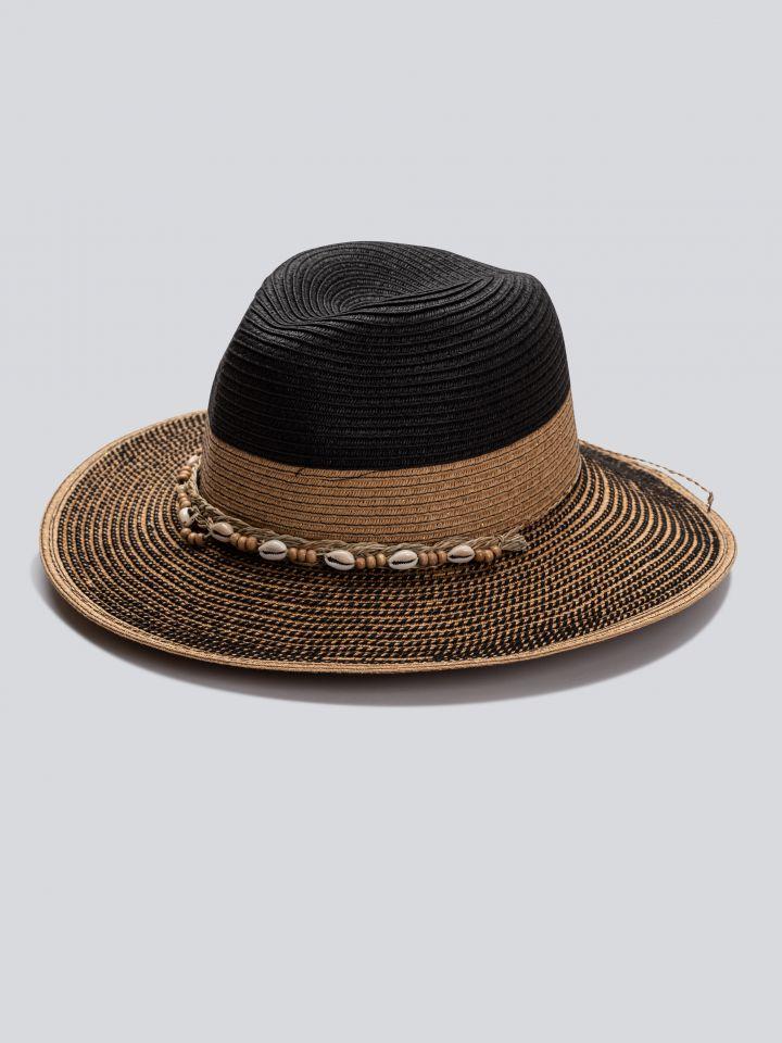 כובע רחב שוליים בצבע שחור