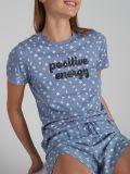 מכנסיים קצרים מודפסים RETRO FUN בצבע כחול