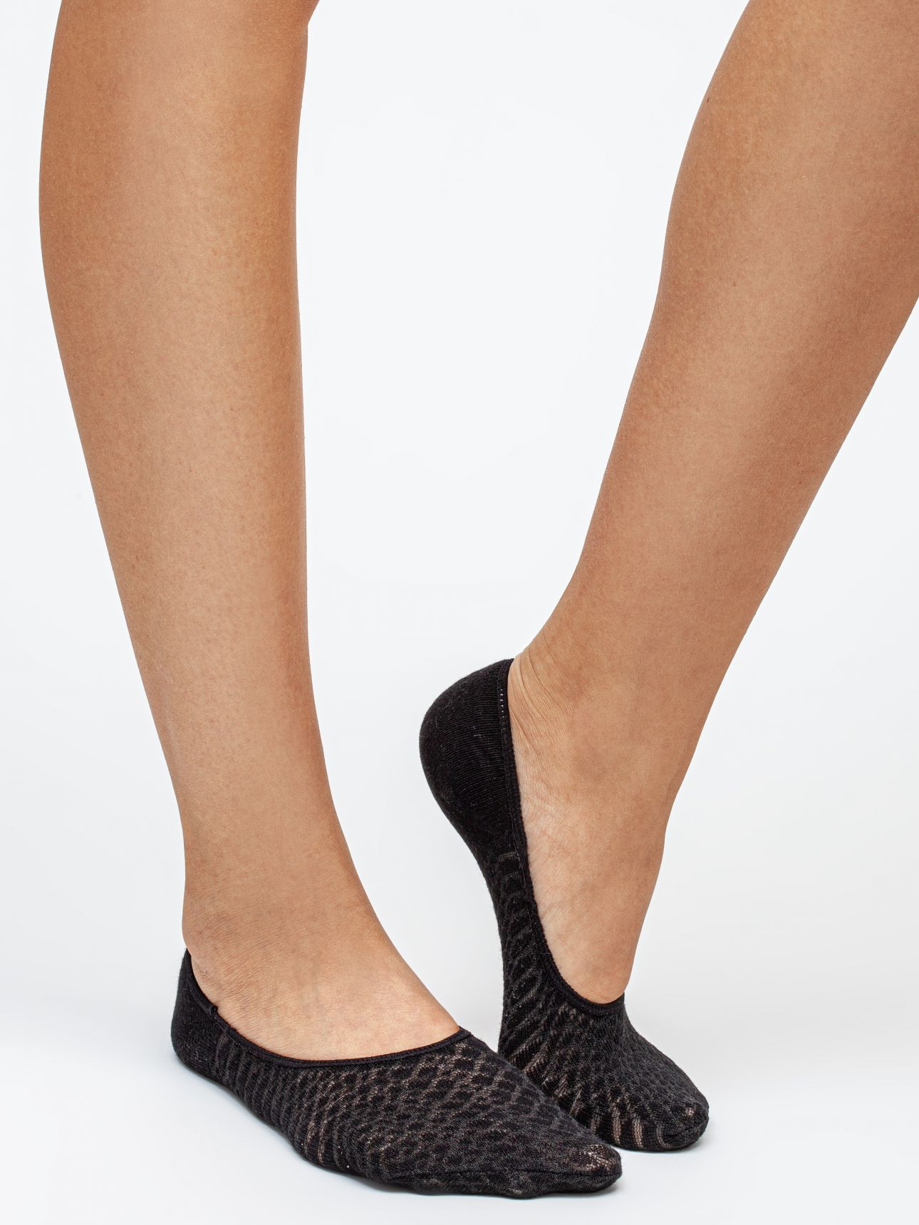 מארז 2 זוגות גרבי עקביות כותנה בצבע שחור