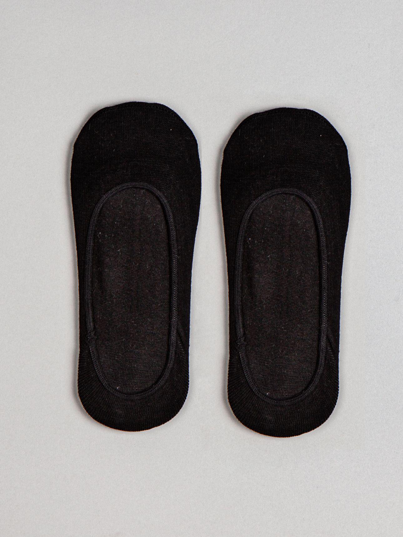 גרבי עקביות כותנה בצבע שחור