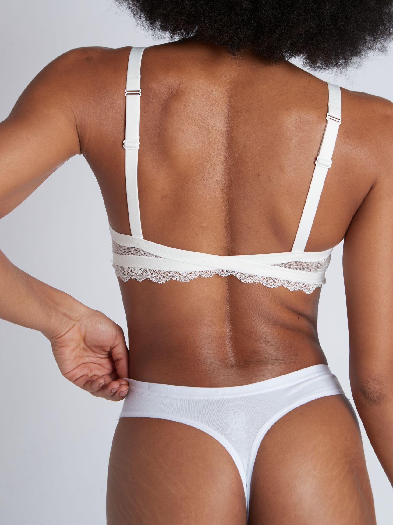 תחתון חוטיני כותנה BASIC בצבע לבן