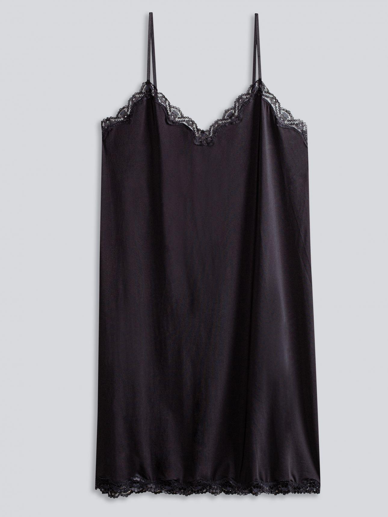 שמלת מיקרו תחרה SECOUND SKIN בצבע שחור