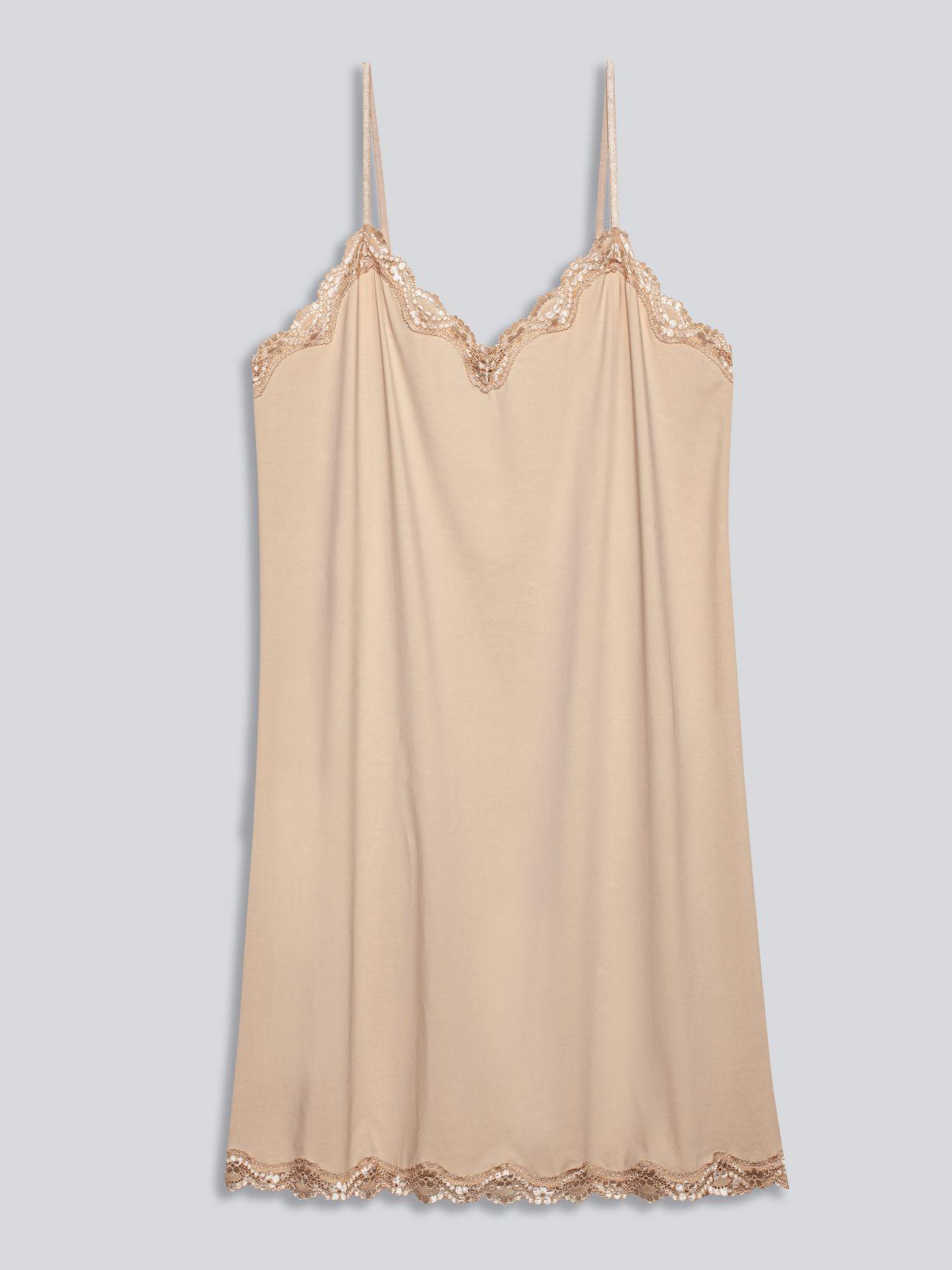 שמלת מיקרו תחרה SECOUND SKIN בצבע צבע טבעי