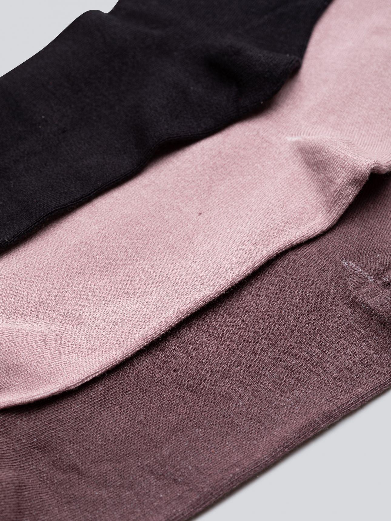 מארז 3 זוגות גרבי ויסקוזה בצבע דפוס מעורב