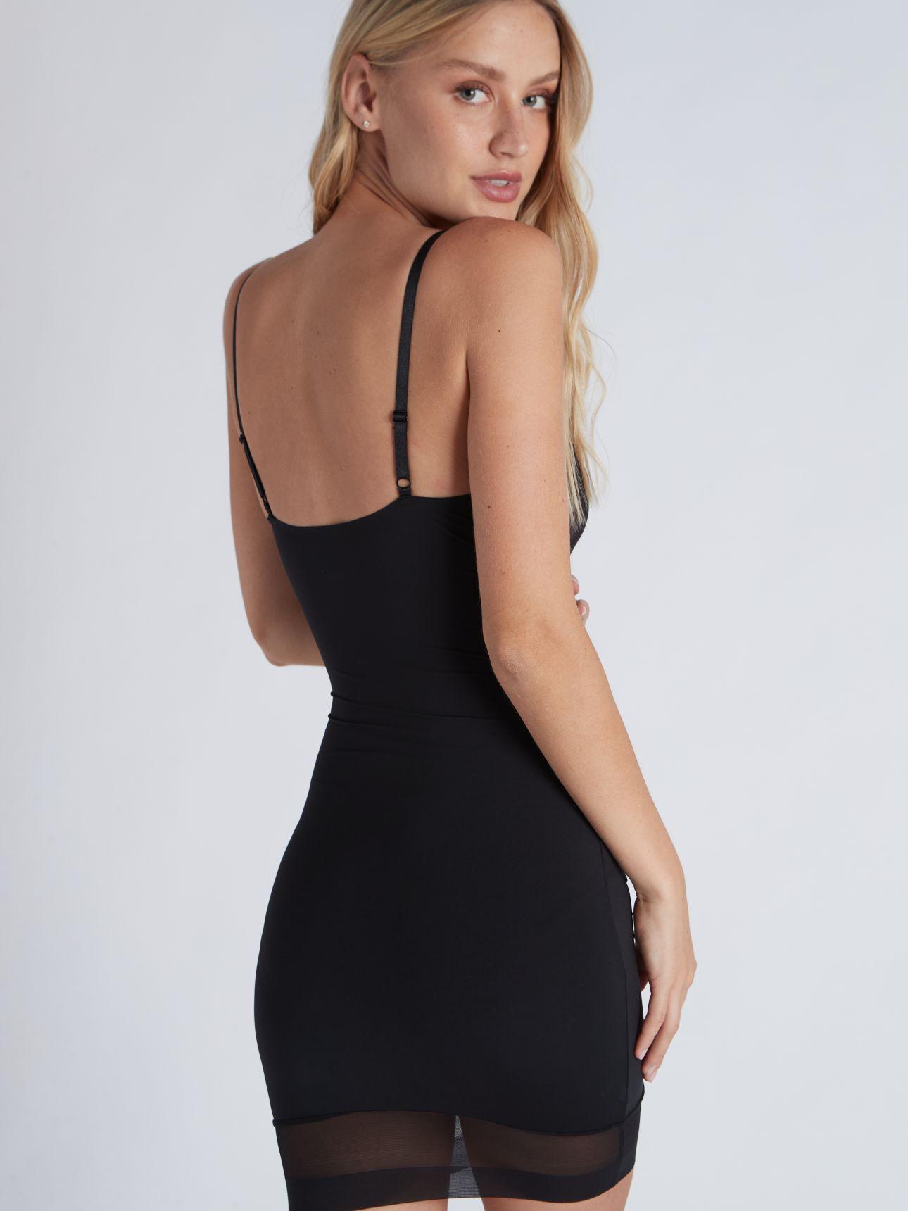 מחליק שמלה בצבע שחור