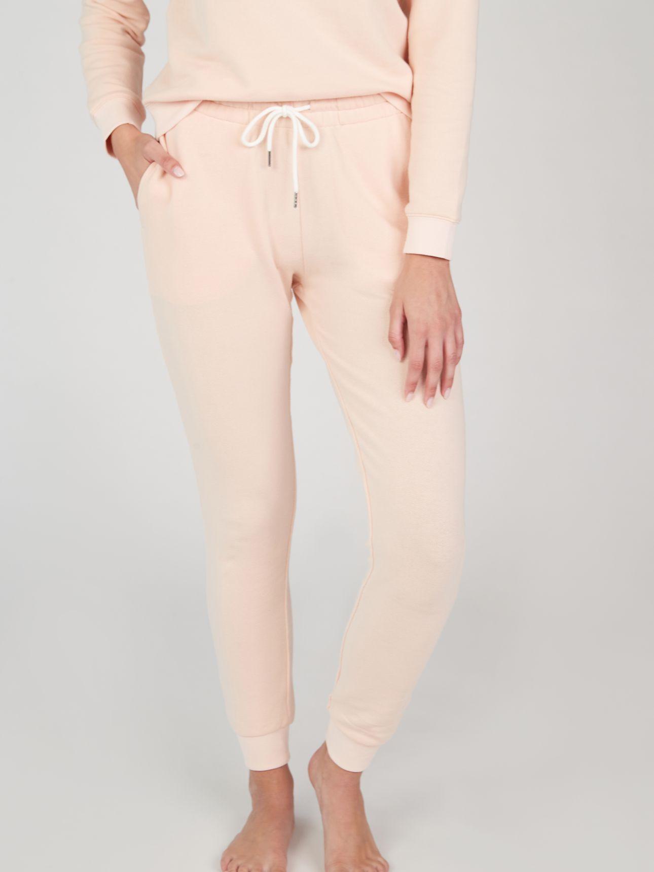 מכנסי פרנץ' טרי POLLY בצבע ורוד בהיר