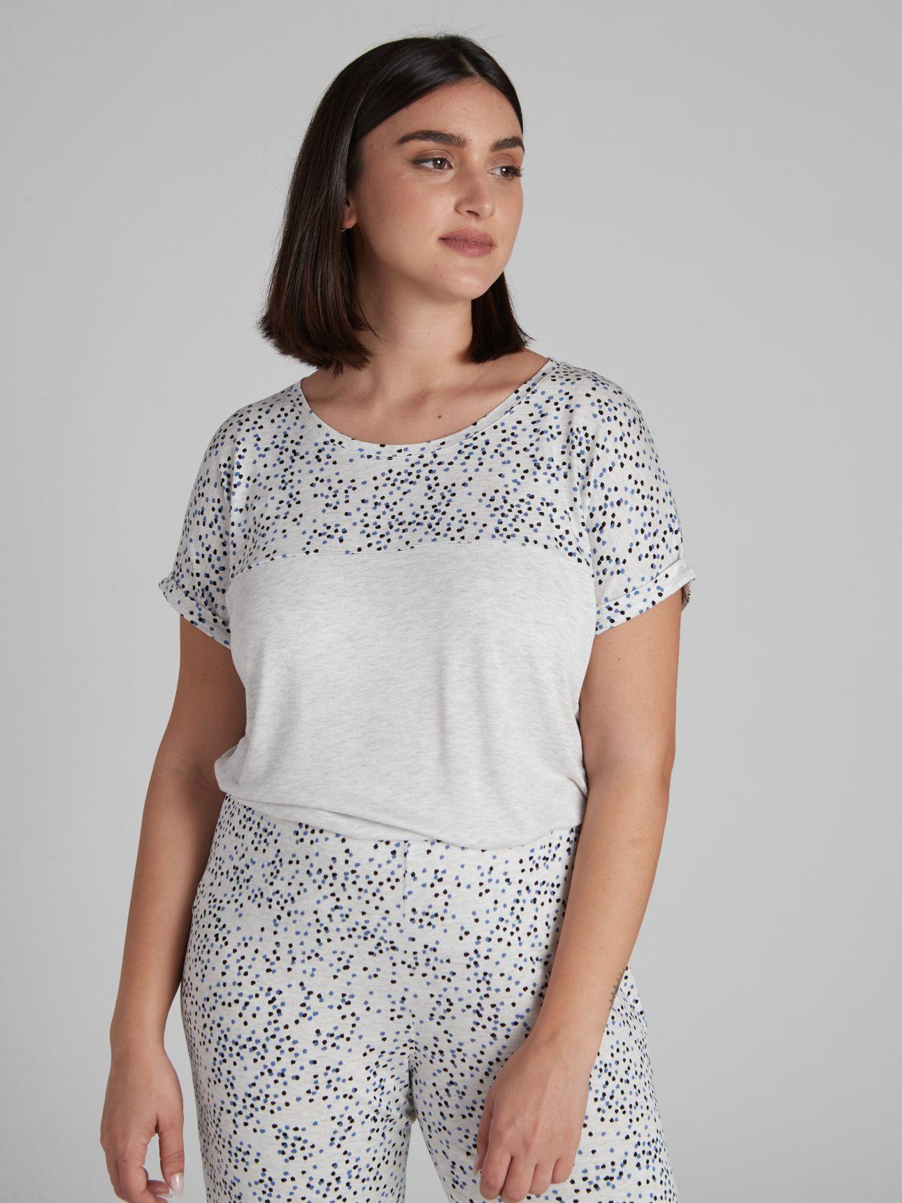 חולצת ASHLY בצבע אפור מלנג'
