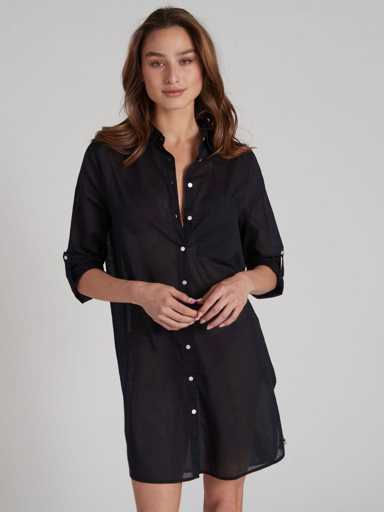 חולצת חוף LOREN בצבע שחור