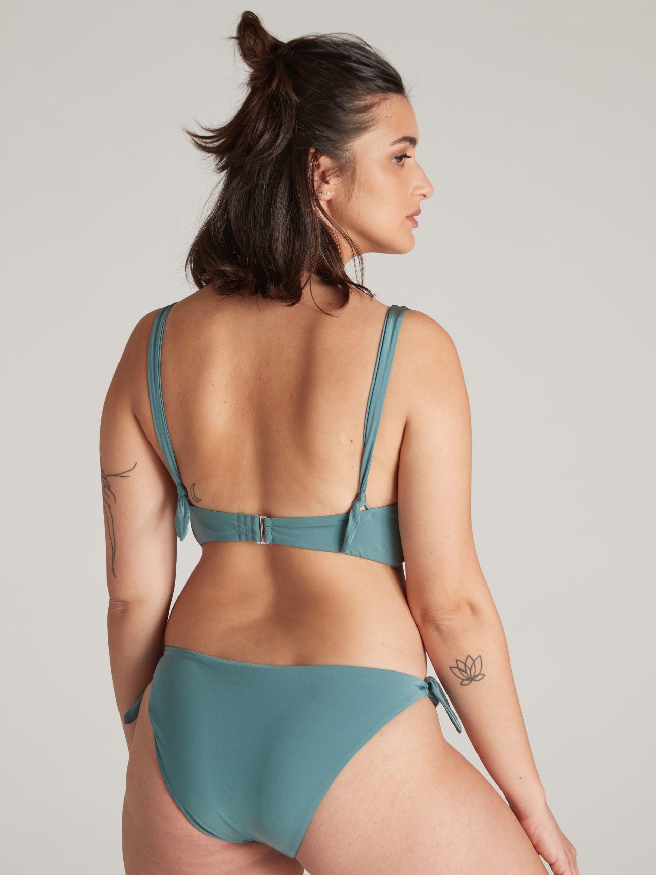 תחתוני בגד ים מיני SUMMER SHINE בצבע סלדין