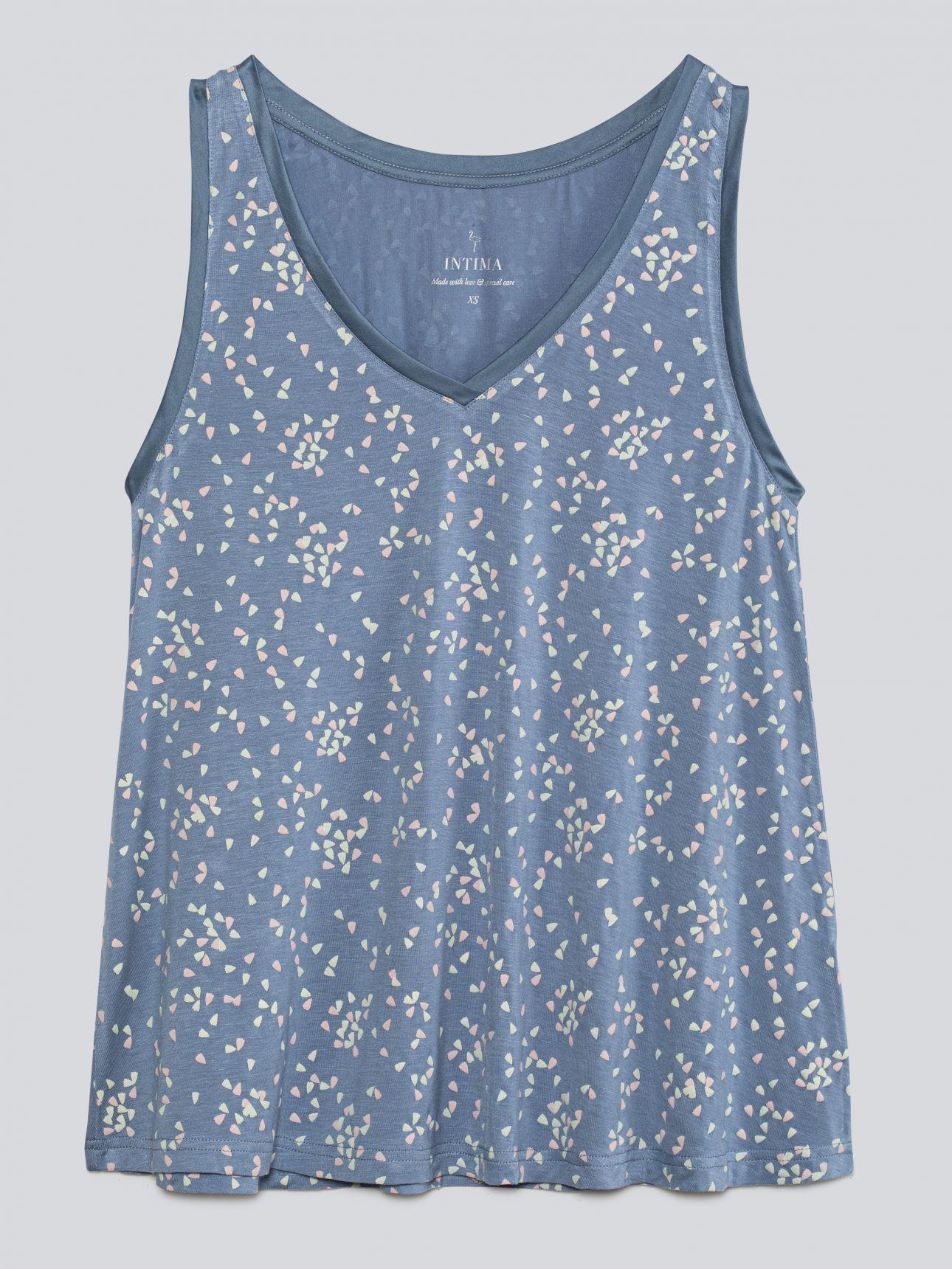 סט פיג'מה KYLIE בצבע כחול