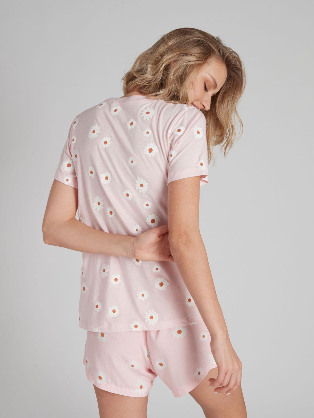 מכנסיים קצרים מודפסים RETRO FUN בצבע ורוד בהיר