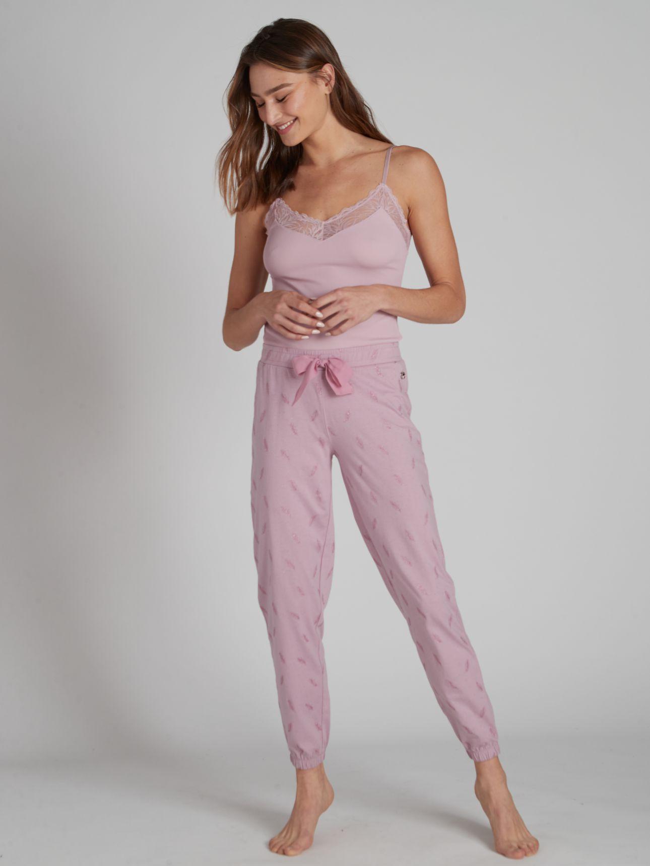 מכנסיים ארוכים FEATHERS בצבע סגול