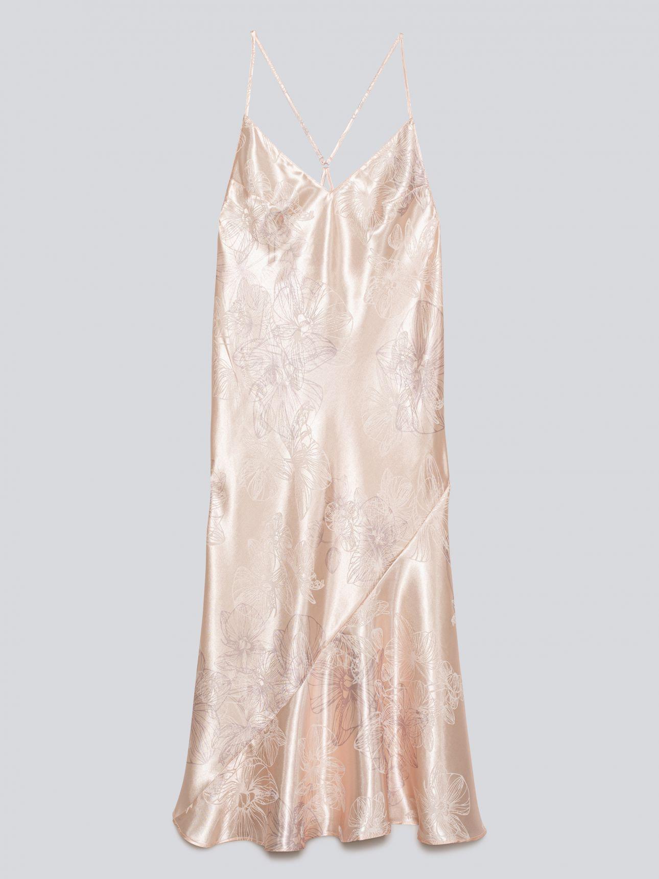 כותונת לילה מקסי עם דוגמאת ז'קארד ORCHID בצבע דפוס פרחים